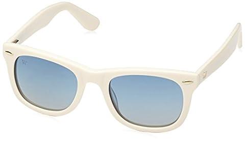 Wolfnoir Unisex KIARA RAW BLUE Sonnenbrille, Mehrfarbig (Blanco/azul), One size