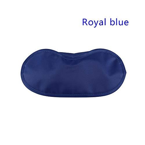 Daxey - 6 PC 9 Farben Schlaf-Rest-Schlaf-Beihilfen Augenmaske Augen Beschattung Comfort Gesundheit Blindfold Schild Reise Augenpflege Schönheits-Werkzeug [Royal Blue]