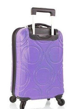... 50% SALE ... PREMIUM DESIGNER Hartschalen Koffer - Heys Core Eco Orbis Grau - Trolley mit 4 Rollen Medium Lila