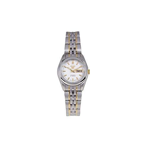 Seiko Damen Analog Automatik Uhr mit Edelstahl Armband SYMA35K1 - Seiko Automatik 5 Damen Uhr