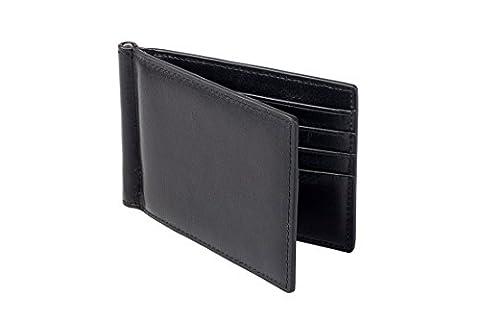 Premium Kreditkartenetui I Geldbörse mit Geldklammer aus hochwertig verarbeitetem Echtleder und integriertem RFID Blocker I Die ideale Brieftasche für Reisen, die Arbeit oder Unterwegs I AMABRO® …