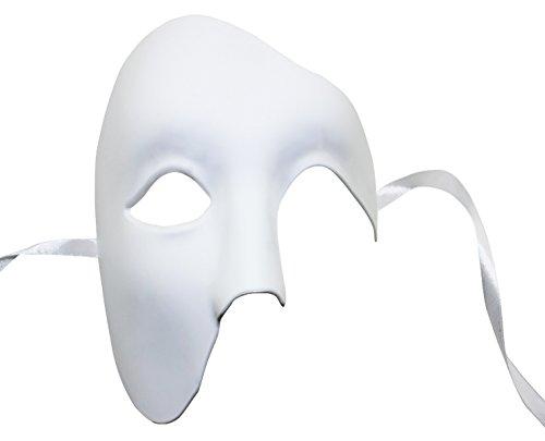 KEFAN Herren Maske Maskerade Maske Phantom der Oper Halbe Gesichtsmaske - Maskerade-masken Männer Weiße Für