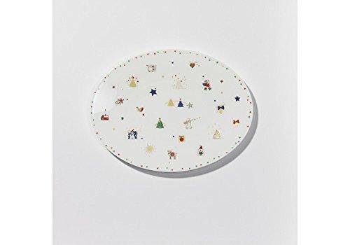 aus - Platte oval 24 cm - NEU (Santa Platten)