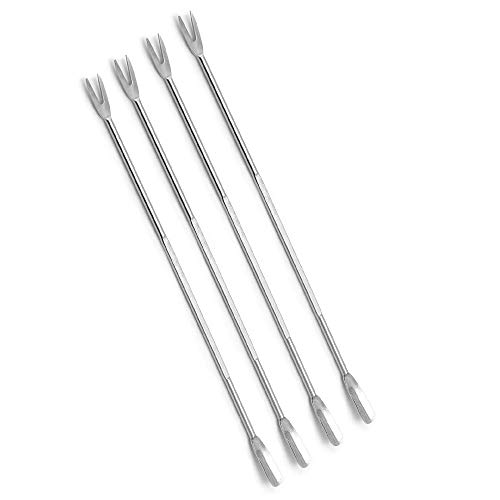 Tiswell Norpro Stainless Steel Seafood Crab Lobster Fork Set 5Pc Pickle Olive Cherry Jar - Shell Lobster Fork