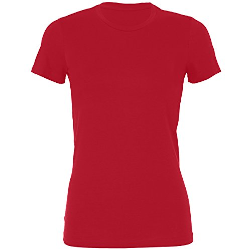 Bella+Canvas Sheer Mini Rib Crew Neck t-Shirt Red XL -