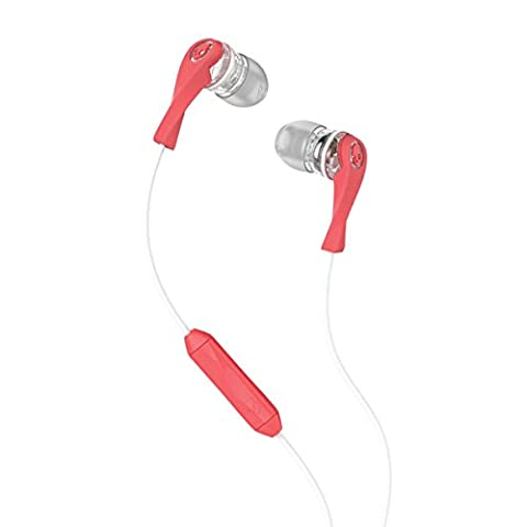 Skullcandy Wink'd 2.0 Women's In-Ear Kopfhörer für Damen mit In-Line Mikrofon - Mash-Up/Transparent/Koralle
