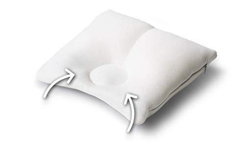 Träumeland T040321 CAREFOR Entwicklungskissen midi (2-8 Monate) -Spezialkissen zur Prävention und Abhilfe von Kopfverformung, Weiß