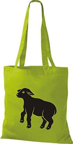 Shirtstown Pochette en tissu Animaux Moutons, mouton Vert - kiwi