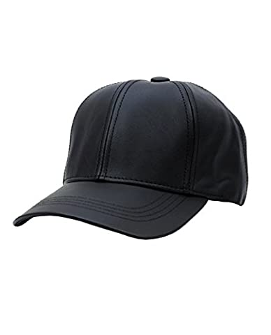 Unisex Adjustable Genuine Leather Baseball Cap Hat Made in