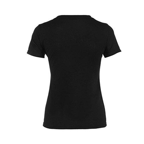 Overdose, Femmes En Vrac Manche Courte DéContractéE Chemisier Chemise Tops Mode ÉTé T-Shirt B