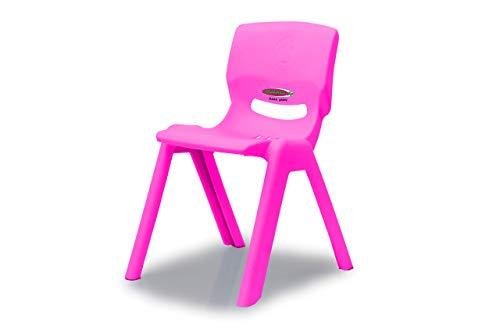Jamara 460584 Kinderstuhl Smiley bis 100 KG pink - stapelbar, aus robustem Kunststoff, Indoor-Outdoor geeignet