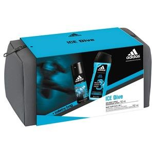 Adidas Herrendüfte Ice Dive Geschenkset Deodorant Body Spray 150 ml + Shower Gel 250 ml + Kulturtasche 1 Stk.