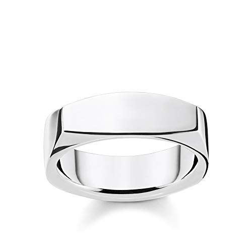 Thomas Sabo Unisex-Ring Eckig silber 925 Sterlingsilber silberfarben TR2279-001-21-68