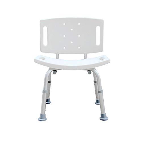 PEIQI BATHROOM Duschhocker Duschstuhl Höhenverstellbar,Badehocker Badestuhl Mit Abnehmbare Rückenlehne,Unterstützt Bis Zu 90 Kg