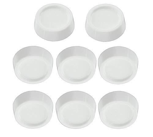 R reliapart Universal-Anti-Rutsch-Gummifüße für Hygena Diplomat Waschmaschine/Kühlschrank/Gefrierschrank (8 Stück) Diplomat Diplomat Fall