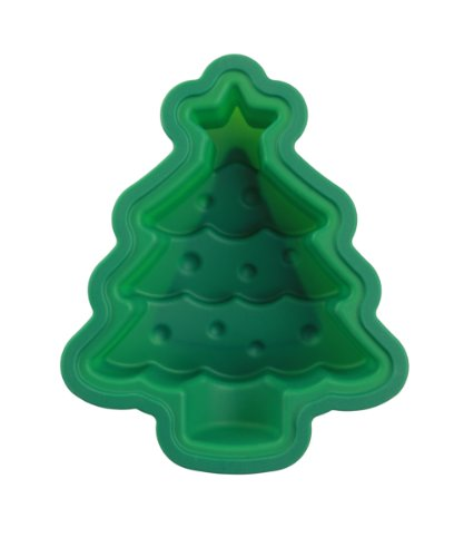 Siliwelt Silikon geruchsneutral antihaft Backform Weihnachtsbaum 25 x 21 x 7 cm
