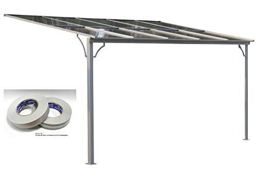 GRASEKAMP Qualität seit 1972 Terrassendach Hardtop 360x300cm Verona mit Anti Dust Filterband Set Polycarbonat Doppelstegplatten