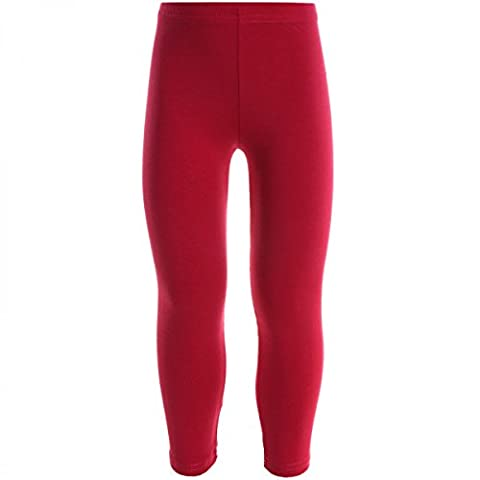 Kinder Leggins Sport Hose Leggings Jeggings Treggings Mädchen Trainings 20535, Farbe:Rosa;Größe:164