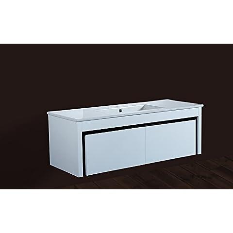 1200mm de pared con mueble de baño con lavabo de cerámica lavabo mueble de almacenamiento & Wash fregadero