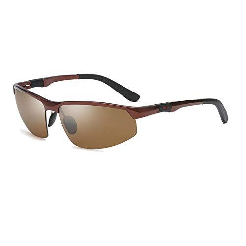 Jinxiaobei Herren Sonnenbrillen Sport Polarisierte Sonnenbrille for Männer Frauen Polarisierte UV400 Sport Sonnenbrille Superlight Frame DesignPolarisierte Sonnenbrille (Color : Brown)