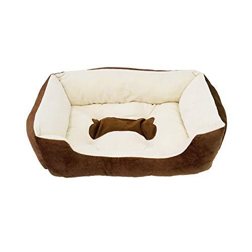 SXJ Hundebett Katzenbett Kissenbett,Superweiche Und Strapazierfähige Haustierausstattung, Maschinenwaschbar, Wasserfester Boden, Für Kleine, Mittelgroße Hunde Und Katzen, Haustierbettwäsche,A,XL