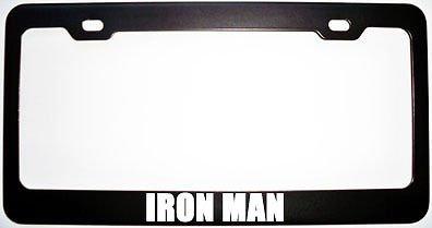 Moon Iron Man schwarzes Metall-Kennzeichengestell aus Stahl, perfekt für Herren und Frauen, Auto-Garadge Dekor -