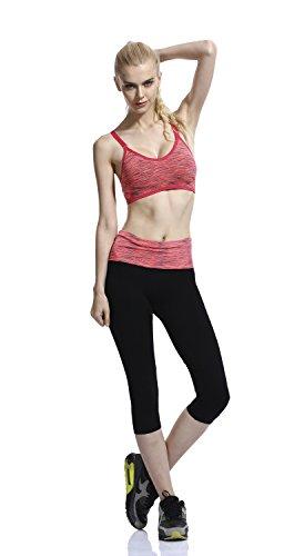 HonourSport-Soutien-Gorge de Sport Push Up Underwear Bra Sans Armature-Femme Orange