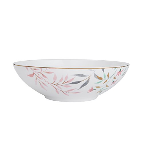 Mikasa Alaya Bone China Vegetable Serving Bowl, 9-Inch Mikasa Antique White China