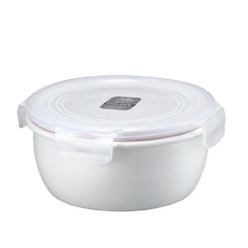 Preisvergleich Produktbild Lock & Lock Silby Plain Style, keramischer Speisebehälter, rund, 520 ml