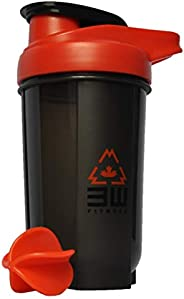 Protein Shaker Bottle 500ML with Whisk Ball - BPA/Phtalate Free, Bacteria & Odor Free, Leak Proof, Carryin
