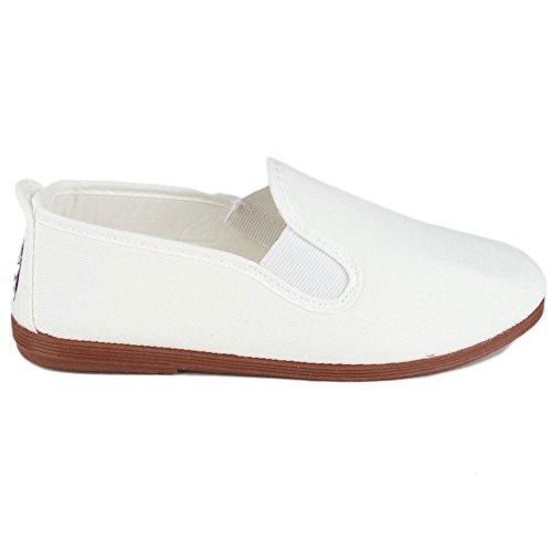 javer - Calzado Kung-FU NIÑOS niñas Color: Blanco Talla: 34