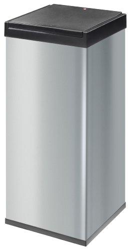 Hailo Big Box - Cubo de basura, Plata, 80 L