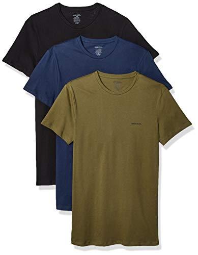 Diesel Herren Unterhemd UMTEE-JAKETHREEPACK (3er Pack), Mehrfarbig (Black/Dress Blues/Olive Night E4079-0Aalw), XL