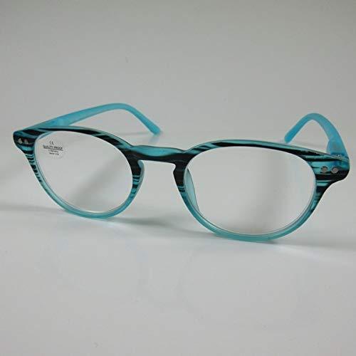 SCHILDGEN Designer Lesebrille türkis Flexbügel Fertigbrille Lesehilfe Sehhilfe +2,0