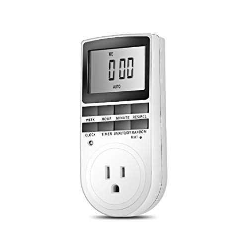 Nosii Digitale LCD - Anzeige UK/US - Plug - In Programmierbarer Timer - Schaltersockel 24 Std. 7Tag (Edition : UK Plug) -