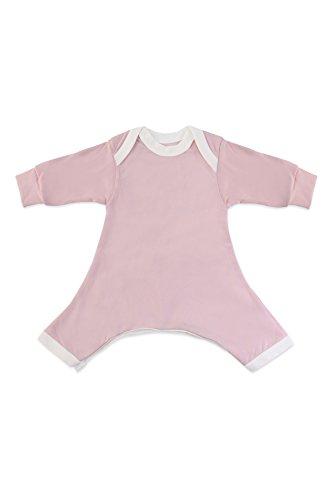 Hip-Pose Baby-Strampler / Strampelanzug mit langen Ärmeln für Spreizhose und Gipshosen für Neugeborene 0 - 3 Monate, pink