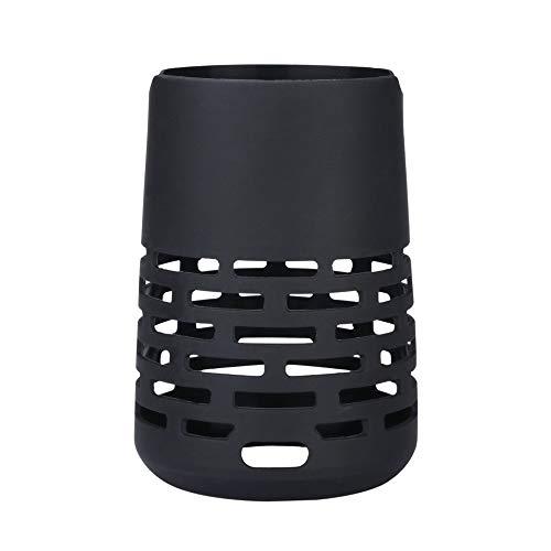 CAOQAO Silicone Etui pour Bose-SoundLink Revolve, Housse De Silicone Portative BoîTier éTui Sling Case Cover Sac,RéSistant Aux Impacts,Facile à Porter,ÉTui De Protection pour Revolve,Noir