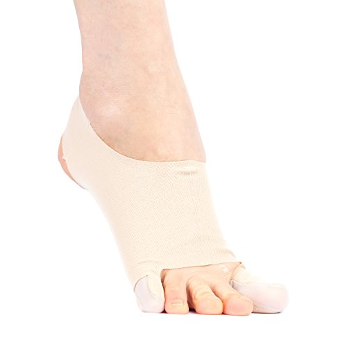 Hallux Valgus Bandage/Bunion Sleeve PLUS: Ultradünne Bandage mit Korrekturschiene, Zehenspreizer & Bunionette Unterstützung | FÜR DAS TRAINING GEEIGNET - Handgemacht in Japan