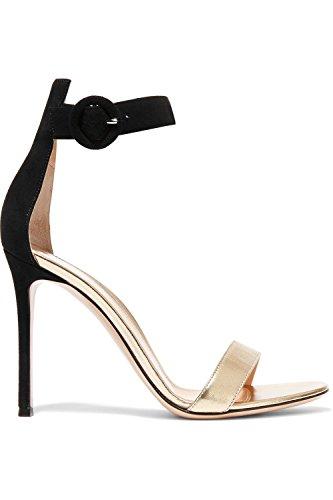 Shoemaker's heart raffinati sandali tacco nuova moda Fine nera High-Heeled tacco sandali fibbia bocca pesce Sandali Thirty-seven