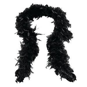 1920's Black Feather Scarf - Fancy Dress for Great Gatsby Party / Moulin Rouge - Recreate that perfect 1920's razzle dazzle feel - complete that authentic flapper girl look - Almost 2 Meters In Length (3 scarfs) by Good Deals Online
