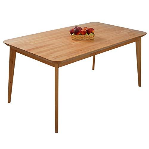 Krokwood Paris Massivholz Esstisch in Buche FSC100% massiv Beistelltisch geölt Buchenholz Esszimmertisch Küche praktischer Küchentisch Holztisch vom Hersteller (160 x 90 x 75 cm)