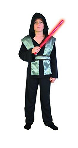 Cesar F564-Kostüm bestehend aus eine Tunika in Schwarz mit Kapuze und Band Silber und ein passender Hose-M - (Kostüm Von Dark Vador)