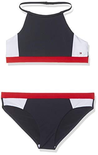 Tommy Hilfiger Mädchen Crop TOP Set Badebekleidungsset, per Pack Blau (Navy Blazer 416), 152 (Herstellergröße: 10-12)