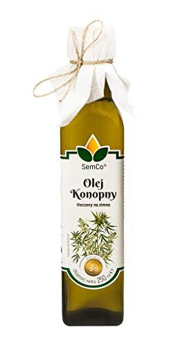 Olio di Semi di Canapa | 250ml | Grezzo pressato a freddo non lavorato extra vergine | ricco di Omega 3-6-9 | 100% naturali (Olio di Canapa)