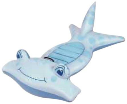 Filmer 20370 - materassino gonfiabile a forma di pesce, colore: blu