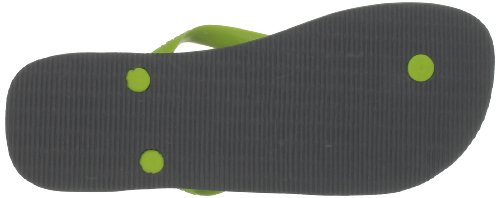Havaianas Brasil Logo 4110850, Infradito Unisex – Adulto Grey/Lime Green