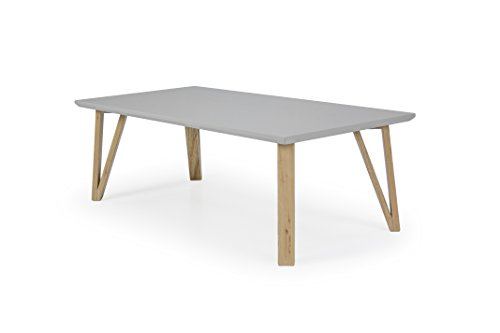 TENZO 6970-912 Cross Designer Table Basse Chêne Gris 60 x 120 x 40 cm