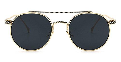 Sucatle Mode, großer Kaffee, Metallkante, anspruchsvoll, Sonnenbrille, ebener Spiegel, koreanische Version des Zustroms von cool, wirklich Membran, ein hellen, Sonnenbrille Sucatle