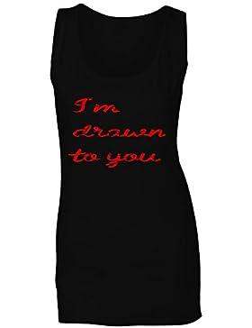 Soy dibujado a usted novedad divertida camiseta sin mangas mujer f115ft
