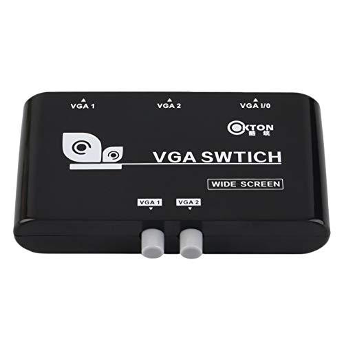 Elviray Portable 2 In 1 Out VGA/SVGA Manuelle Freigabe Auswahlschalter Umschaltbox Hellschwarzer VGA-Schalter Für LCD PC Notebook - Svga Lcd